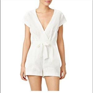 NWT White eyelet lace Cynthia Vincent romper